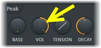 Use VOL To Control The Frequency Area