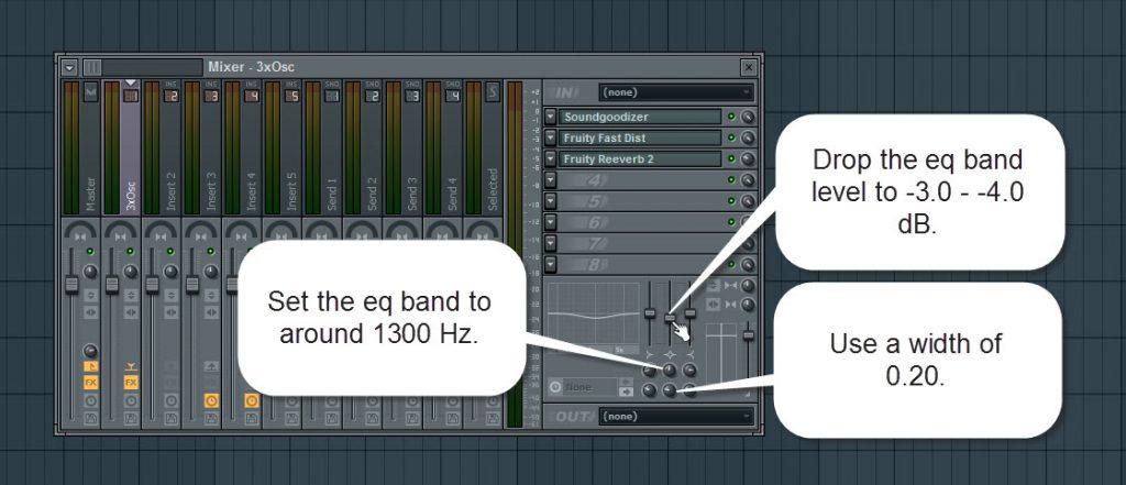 3xOsc Mixer Track EQ Settings