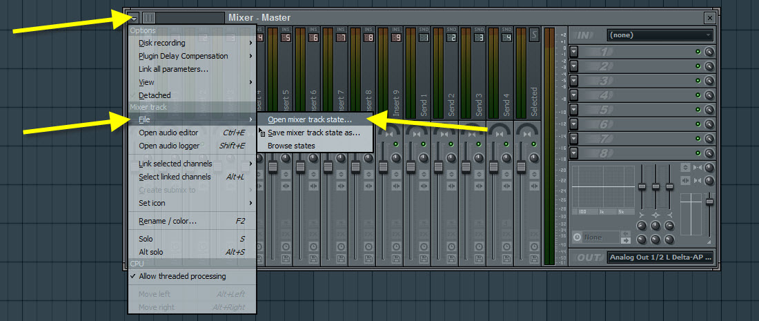How to Load a Mixer State File