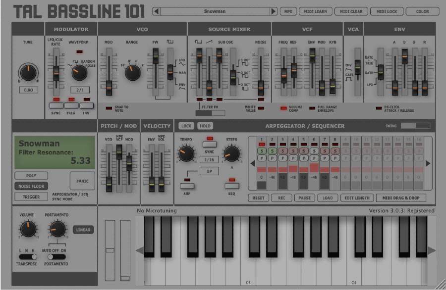 TAL BassLine 101 Synth Bass