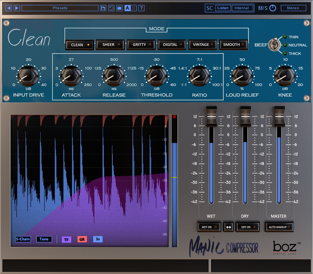 Boz Digital Labs Manic Compressor Plugin