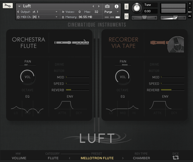 Cinematique Instruments Luft