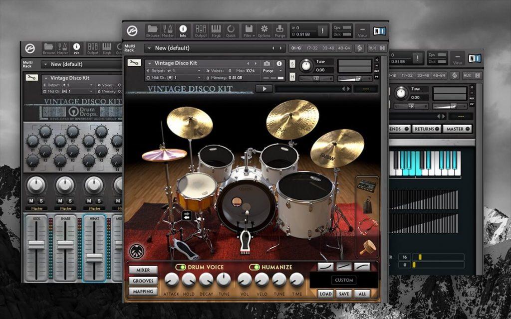 DrumDrops The Vintage Funk _ Disco Dual Drum Kit VST