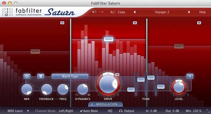 FabFilter Saturn Distortion Unit