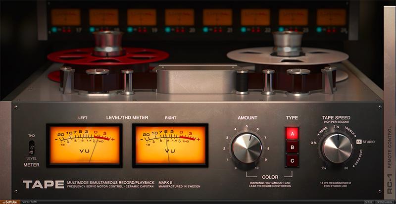 Softube Tape Machine Emulation Saturation Plugin