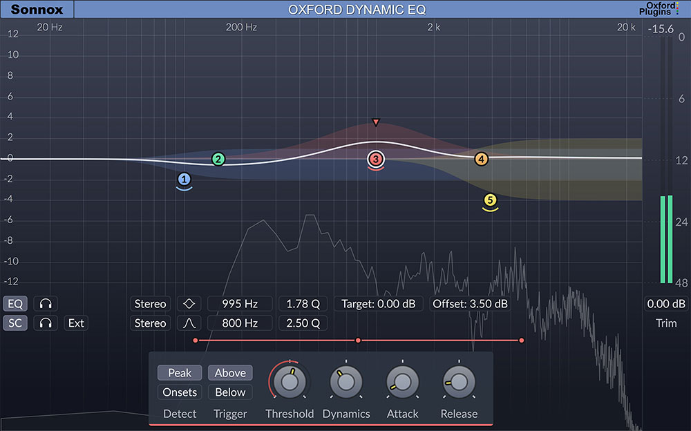 Sonnox Oxford Dynamic EQ Plugin