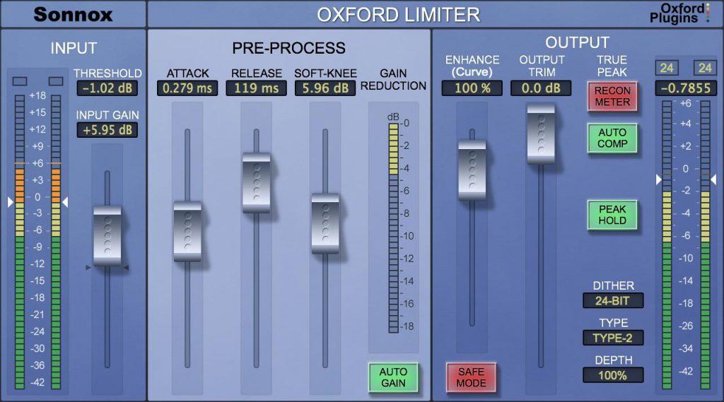 Sonnox Oxford Limiter V3