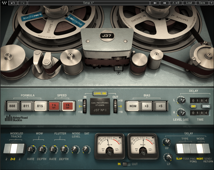 Waves J37 Tape Emulation