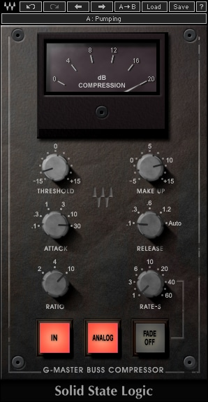 Waves SSL G-Master Buss Compressor Plugin