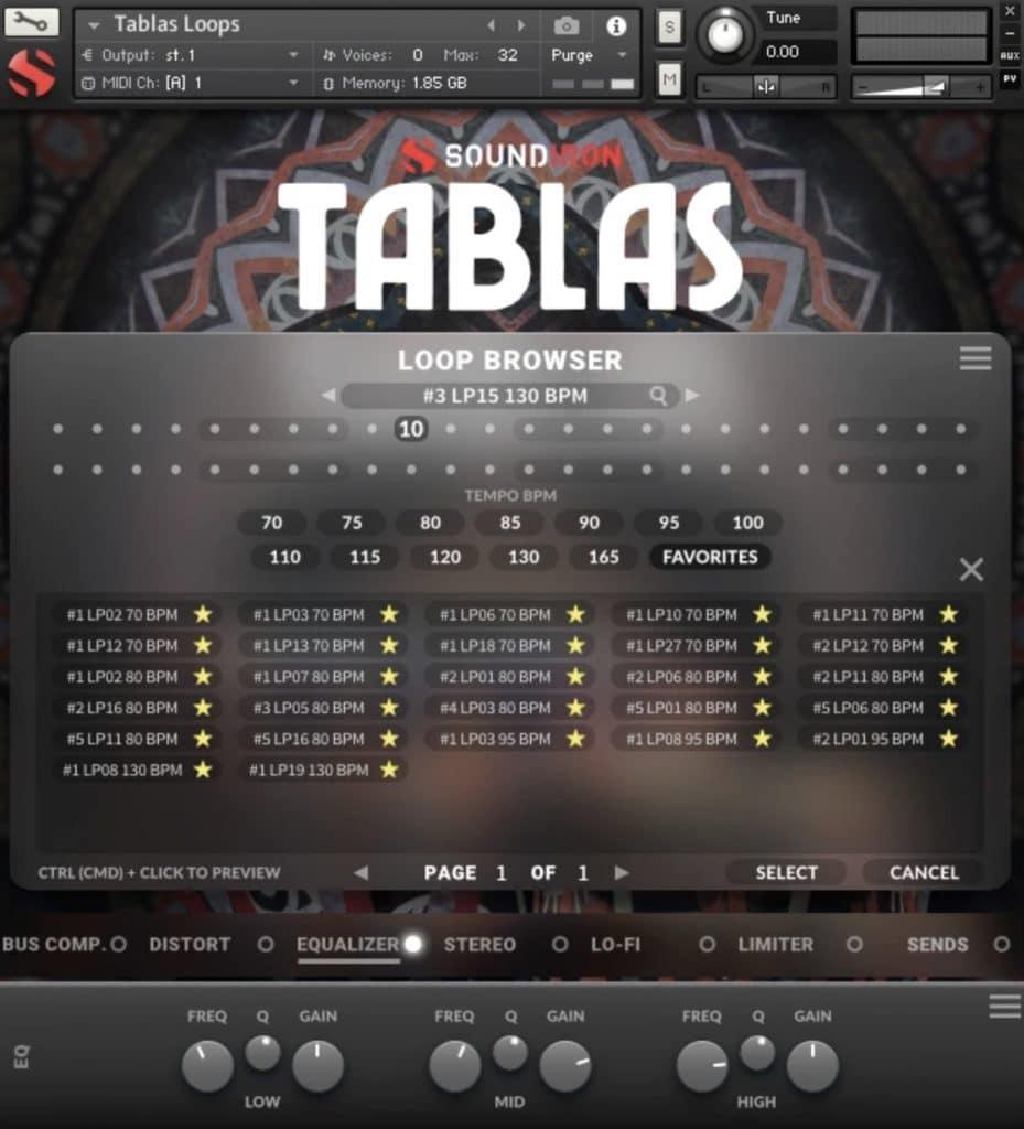 Tablas Rhythmic GUI loop banks